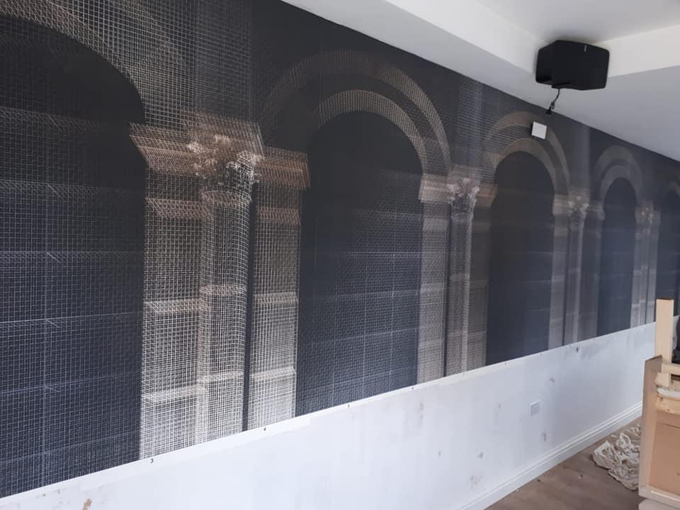commercial decoration restaurant wallpaper murel