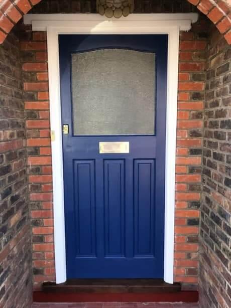exterior door painted in worthing