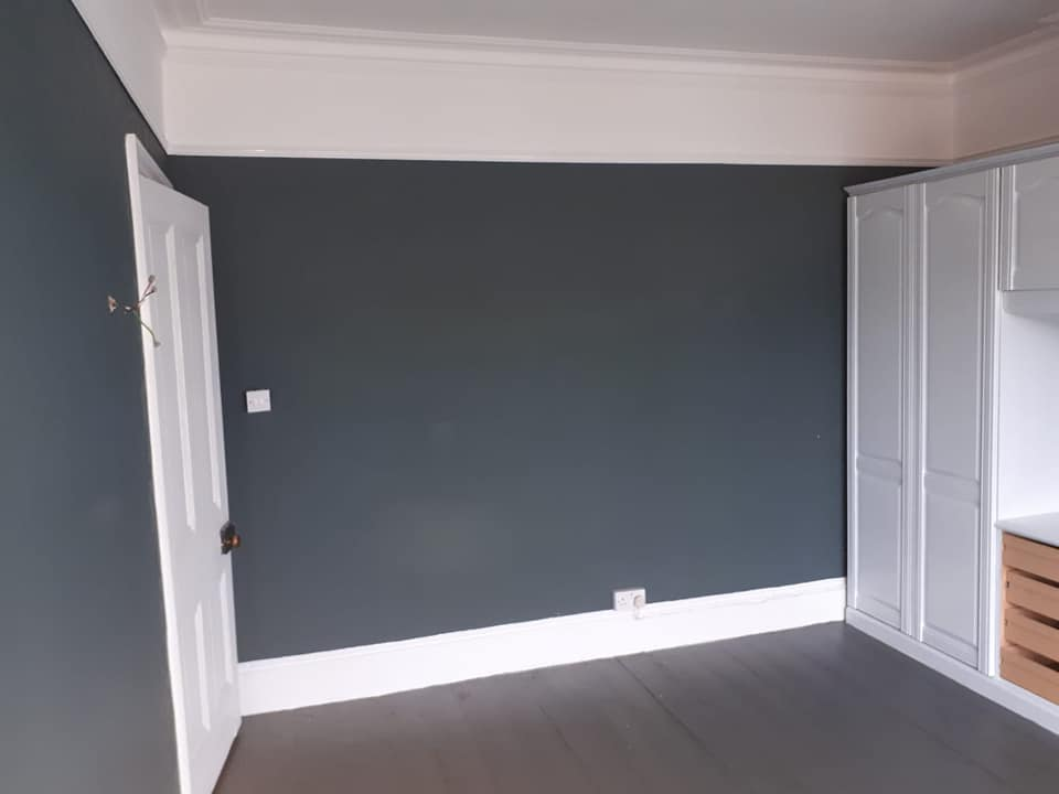 Painting and Decorating interior bedroom