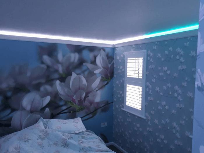 bedroom wall murel interior decorating
