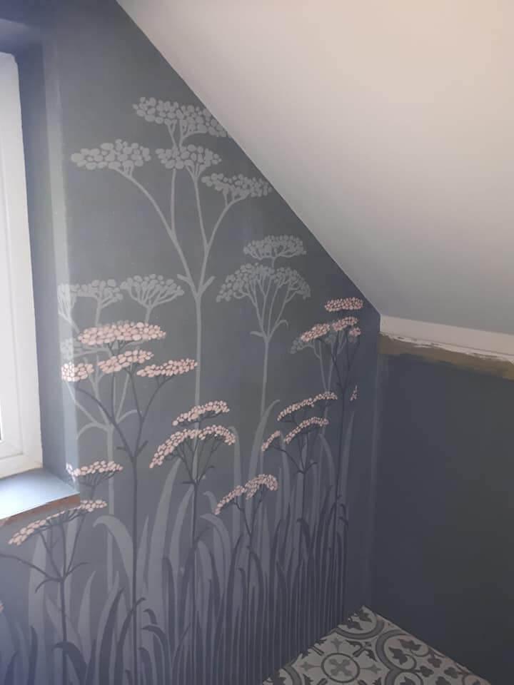 bedroom wallpaper murel residential
